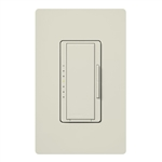 Lutron MA-PRO-LA Maestro Phase-selectable dimmer for LED, ELV, MLV and Incandescent lamp loads, Single Pole / 3-Way Dimmer in Light Almond