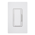 Lutron MA-PRO-WH Maestro Phase-selectable dimmer for LED, ELV, MLV and Incandescent lamp loads, Single Pole / 3-Way Dimmer in White