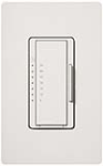 Lutron MA-T51MN-SW Maestro Satin 120V 5A Lighting, 3A Fan Multi Location Timer in Snow