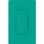 Lutron MA-T51MN-TQ Maestro Satin 120V 5A Lighting, 3A Fan Multi Location Timer in Turquoise