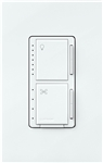 Lutron MACL-LFQ-SW 75W CFL / LED or 250W Incandescent / Halogen Single Location Dimmer & 1.5 A Single Fan Control in Snow