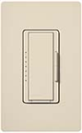 Lutron MAW-600H-LA Maestro 600W Incandescent / Halogen Dimming Package with Wallplate in Light Almond