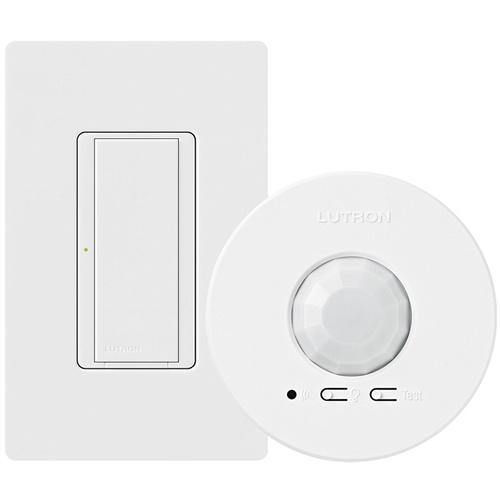 Lutron Wireless Switch >> Lutron Mrf2s 1s8a 1oc Energy Retrofit Maestro Wireless Switch And Ceiling Mount Sensor Package
