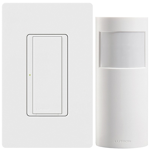 Lutron Wireless Switch >> Lutron Mrf2s 1s8a 1ow Energy Retrofit Maestro Wireless Switch And Wall Mount Sensor Package