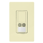 Lutron MS-B102-V-AL Maestro Dual Technology Ultrasonic and Passive Infrared Vacancy Sensor Switch for Single Circuit, Neutral Wire Required, in Almond