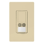 Lutron MS-B102-V-IV Maestro Dual Technology Ultrasonic and Passive Infrared Vacancy Sensor Switch for Single Circuit, Neutral Wire Required, in Ivory