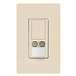 Lutron MS-B102-V-LA Maestro Dual Technology Ultrasonic and Passive Infrared Vacancy Sensor Switch for Single Circuit, Neutral Wire Required, in Light Almond