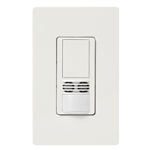 Lutron MS-B102-V-WH Maestro Dual Technology Ultrasonic and Passive Infrared Vacancy Sensor Switch for Single Circuit, Neutral Wire Required, in White