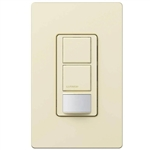 Lutron MS-OPS6-DDV-AL Maestro Dual-circuit Switch with Occupancy/Vacancy Sensor, 6A 120V-277V in Almond