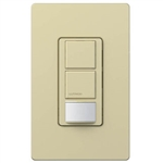 Lutron MS-OPS6-DDV-IV Maestro Dual-circuit Switch with Occupancy/Vacancy Sensor, 6A 120V-277V in Ivory