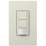 Lutron MS-OPS6-DDV-LA Maestro Dual-circuit Switch with Occupancy/Vacancy Sensor, 6A 120V-277V in Light Almond
