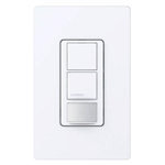 Lutron MS-OPS6-DDV-WH Maestro Dual-circuit Switch with Occupancy/Vacancy Sensor, 6A 120V-277V in White