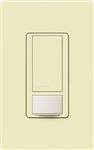 Lutron MS-OPS6M-DV-AL (MS-OPS6M2-DV-AL) Maestro Switch with Occupancy Sensor Dual Voltage 120V-277V / 6A Multi Location in Almond
