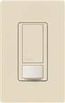 Lutron MS-OPS6M-DV-LA (MS-OPS6M2-DV-LA) Maestro Switch with Occupancy Sensor Dual Voltage 120V-277V / 6A Multi Location in Light Almond