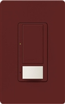 Lutron MS-OPS6M-DV-MR (MS-OPS6M2-DV-MR) Maestro Switch with Occupancy Sensor Dual Voltage 120V-277V / 6A Multi Location in Merlot
