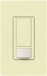 Lutron MS-OPS6M2N-DV-AL Maestro Switch with Occupancy/Vacancy Sensor, Neutral Wire Required, Dual Voltage 120V-277V / 6A Multi Location in Almond
