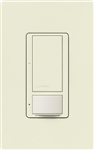 Lutron MS-OPS6M2N-DV-BI Maestro Switch with Occupancy/Vacancy Sensor, Neutral Wire Required, Dual Voltage 120V-277V / 6A Multi Location in Biscuit