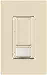 Lutron MS-OPS6M2N-DV-ES Maestro Switch with Occupancy/Vacancy Sensor, Neutral Wire Required, Dual Voltage 120V-277V / 6A Multi Location in Eggshell