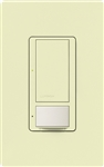 Lutron MS-OPS6M2U-DV-AL Maestro Switch with Occupancy Sensor Dual Voltage 120V-277V / 6A Multi Location, Neutral or Ground Wire, in Almond