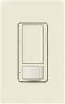 Lutron MS-OPS6M2U-DV-BI Maestro Switch with Occupancy Sensor Dual Voltage 120V-277V / 6A Multi Location, Neutral or Ground Wire, in Biscuit
