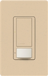 Lutron MS-OPS6M2U-DV-DS Maestro Switch with Occupancy Sensor Dual Voltage 120V-277V / 6A Multi Location, Neutral or Ground Wire, in Desert Stone