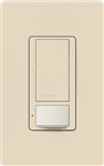 Lutron MS-OPS6M2U-DV-ES Maestro Switch with Occupancy Sensor Dual Voltage 120V-277V / 6A Multi Location, Neutral or Ground Wire, in Eggshell
