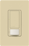 Lutron MS-OPS6M2U-DV-IV Maestro Switch with Occupancy Sensor Dual Voltage 120V-277V / 6A Multi Location, Neutral or Ground Wire, in Ivory