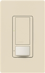 Lutron MS-OPS6M2U-DV-LA Maestro Switch with Occupancy Sensor Dual Voltage 120V-277V / 6A Multi Location, Neutral or Ground Wire, in Light Almond