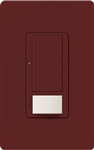 Lutron MS-OPS6M2U-DV-MR Maestro Switch with Occupancy Sensor Dual Voltage 120V-277V / 6A Multi Location, Neutral or Ground Wire, in Merlot