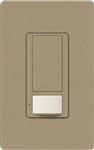 Lutron MS-OPS6M2U-DV-MS Maestro Switch with Occupancy Sensor Dual Voltage 120V-277V / 6A Multi Location, Neutral or Ground Wire, in Mocha Stone