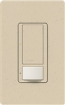 Lutron MS-OPS6M2U-DV-ST Maestro Switch with Occupancy Sensor Dual Voltage 120V-277V / 6A Multi Location, Neutral or Ground Wire, in Stone