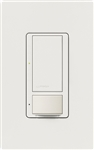Lutron MS-OPS6M2U-DV-SW Maestro Switch with Occupancy Sensor Dual Voltage 120V-277V / 6A Multi Location, Neutral or Ground Wire, in Snow