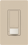 Lutron MS-OPS6M2U-DV-TP Maestro Switch with Occupancy Sensor Dual Voltage 120V-277V / 6A Multi Location, Neutral or Ground Wire, in Taupe