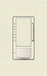 Lutron MS-VP600M-BI Maestro Satin 600W Incandescent / Halogen Multi Location Dimmer and Vacancy Sensor in Biscuit