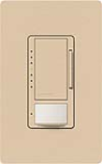 Lutron MS-VP600M-DS Maestro Satin 600W Incandescent / Halogen Multi Location Dimmer and Vacancy Sensor in Desert Stone