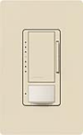 Lutron MS-VP600M-ES Maestro Satin 600W Incandescent / Halogen Multi Location Dimmer and Vacancy Sensor in Eggshell