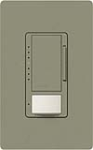 Lutron MS-VP600M-GB Maestro Satin 600W Incandescent / Halogen Multi Location Dimmer and Vacancy Sensor in Greenbriar