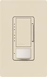 Lutron MS-VP600M-LA Maestro 600W Incandescent / Halogen Multi Location Dimmer and Vacancy Sensor in Light Almond