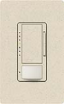 Lutron MS-VP600M-LS Maestro Satin 600W Incandescent / Halogen Multi Location Dimmer and Vacancy Sensor in Limestone