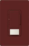 Lutron MS-VP600M-MR Maestro Satin 600W Incandescent / Halogen Multi Location Dimmer and Vacancy Sensor in Merlot