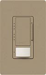 Lutron MS-VP600M-MS Maestro Satin 600W Incandescent / Halogen Multi Location Dimmer and Vacancy Sensor in Mocha Stone