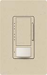 Lutron MS-VP600M-ST Maestro Satin 600W Incandescent / Halogen Multi Location Dimmer and Vacancy Sensor in Stone