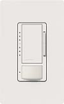 Lutron MS-VP600M-SW Maestro Satin 600W Incandescent / Halogen Multi Location Dimmer and Vacancy Sensor in Snow