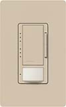 Lutron MS-VP600M-TP Maestro Satin 600W Incandescent / Halogen Multi Location Dimmer and Vacancy Sensor in Taupe