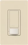 Lutron MS-VPS6M-DV-ES (MS-VPS6M2-DV-ES) Maestro Switch with Vacancy Sensor Dual Voltage 120V-277V / 6A Multi Location in Eggshell