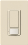 Lutron MS-VPS6M-DV-LA-6 (MS-VPS6M2-DV-LA-6) Maestro Switch with Vacancy Sensor Dual Voltage 120V-277V / 6A Multi Location in Light Almond, 6-pack