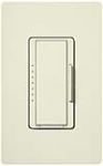 Lutron MSCF-6AM-277-BI Maestro Satin 277V / 6A Fluorescent 3-Wire / Hi-Lume LED Multi Location Dimmer in Biscuit