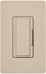 Lutron MSCF-6AM-277-TP Maestro Satin 277V / 6A Fluorescent 3-Wire / Hi-Lume LED Multi Location Dimmer in Taupe