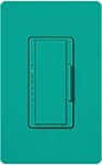 Lutron MSCF-6AM-277-TQ Maestro Satin 277V / 6A Fluorescent 3-Wire / Hi-Lume LED Multi Location Dimmer in Turquoise