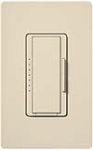 Lutron MSCF-6AM-ES Maestro Satin 120V / 6A Fluorescent 3-Wire / Hi-Lume LED Multi Location Dimmer in Eggshell